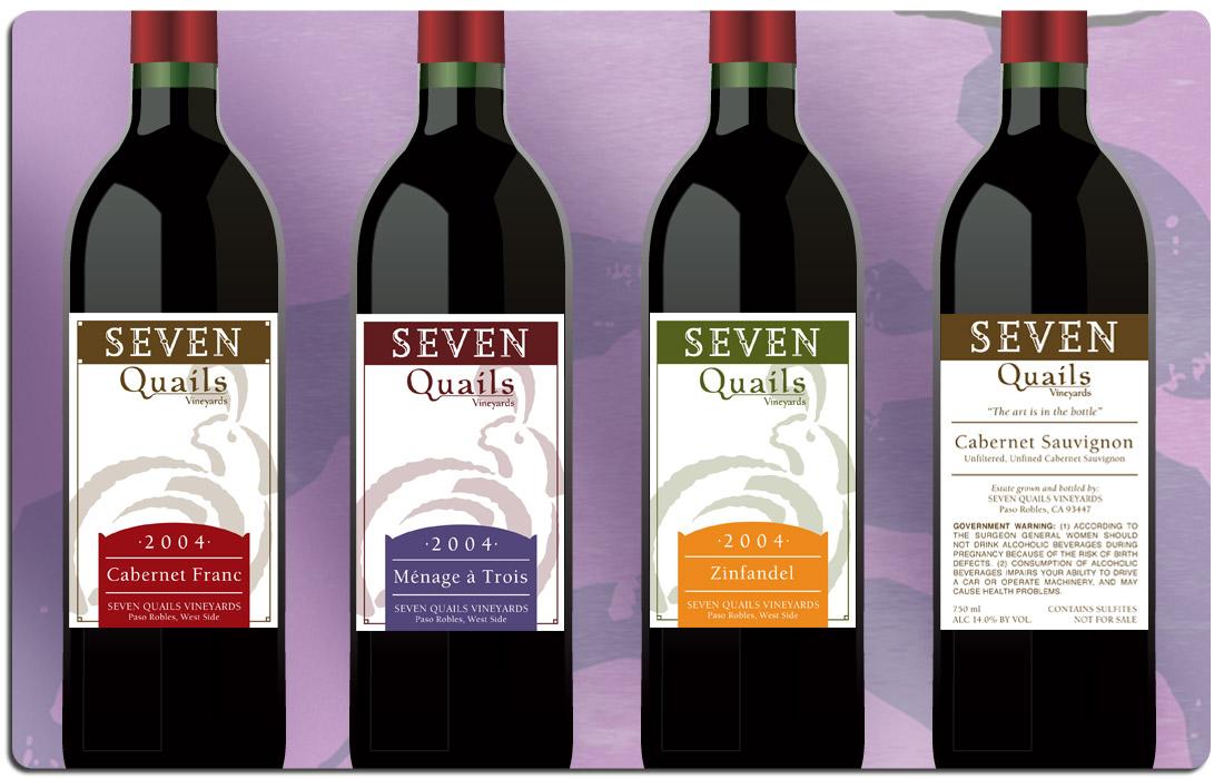 Seven Quails Winery Branding