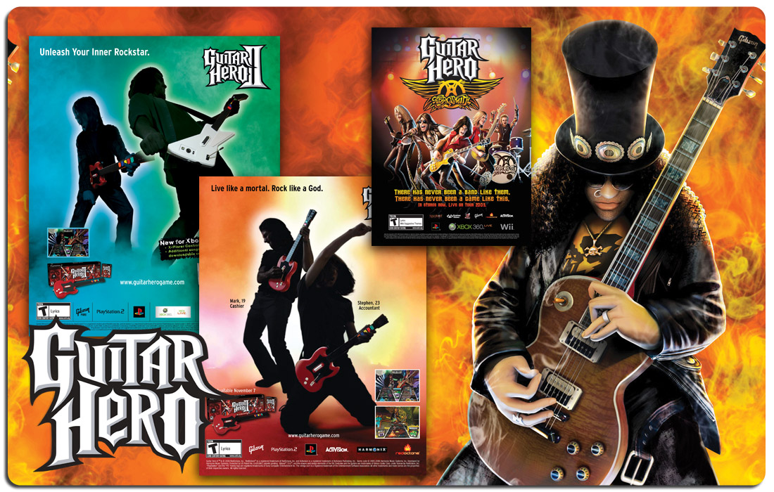 Guitar Hero Advertising and Branding