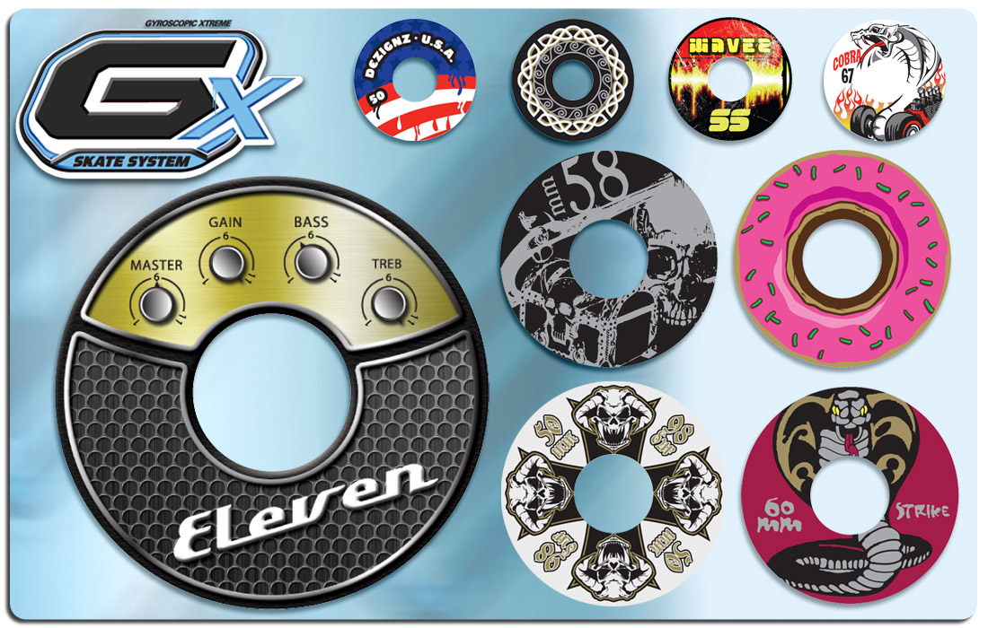 GX Skate Style Guide and Wheel Graphics Design