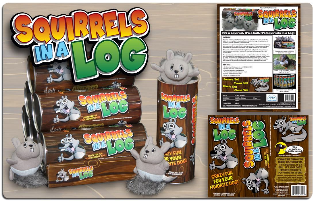 Squirrels in a Log Branding and Marketing