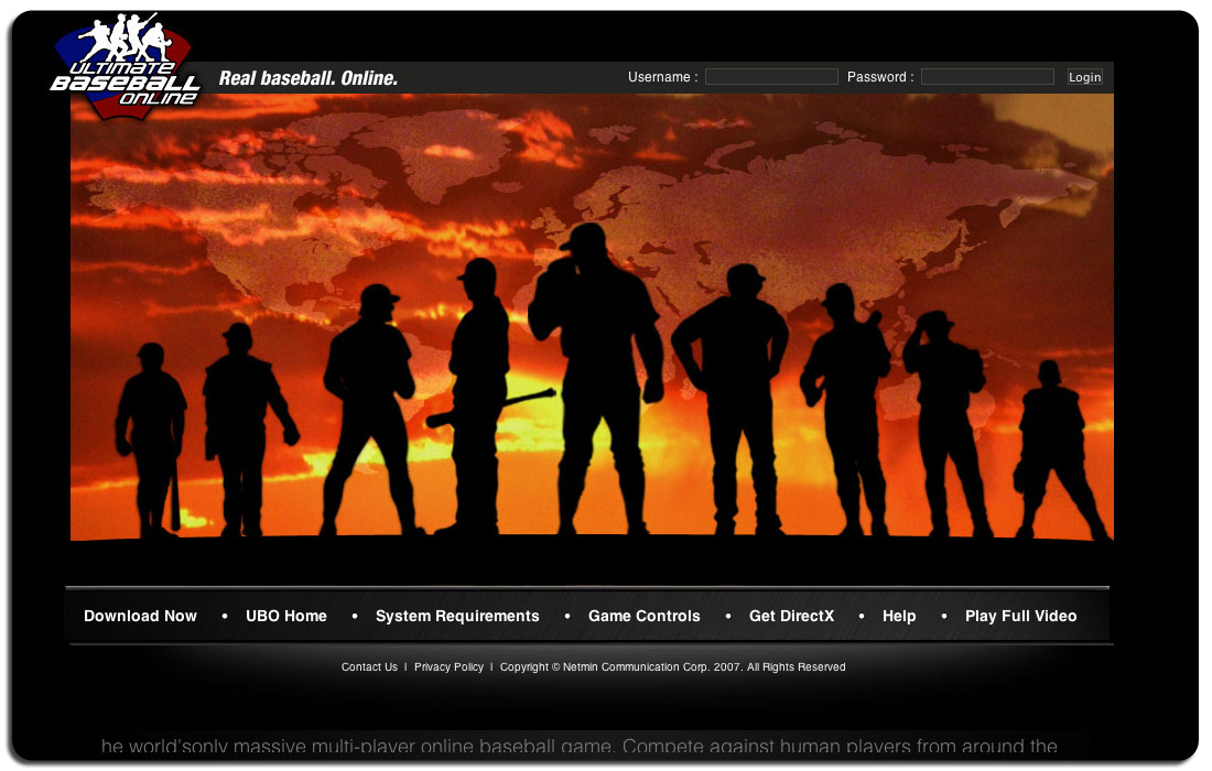 Ultimate Baseball Online Web and Promotional Video