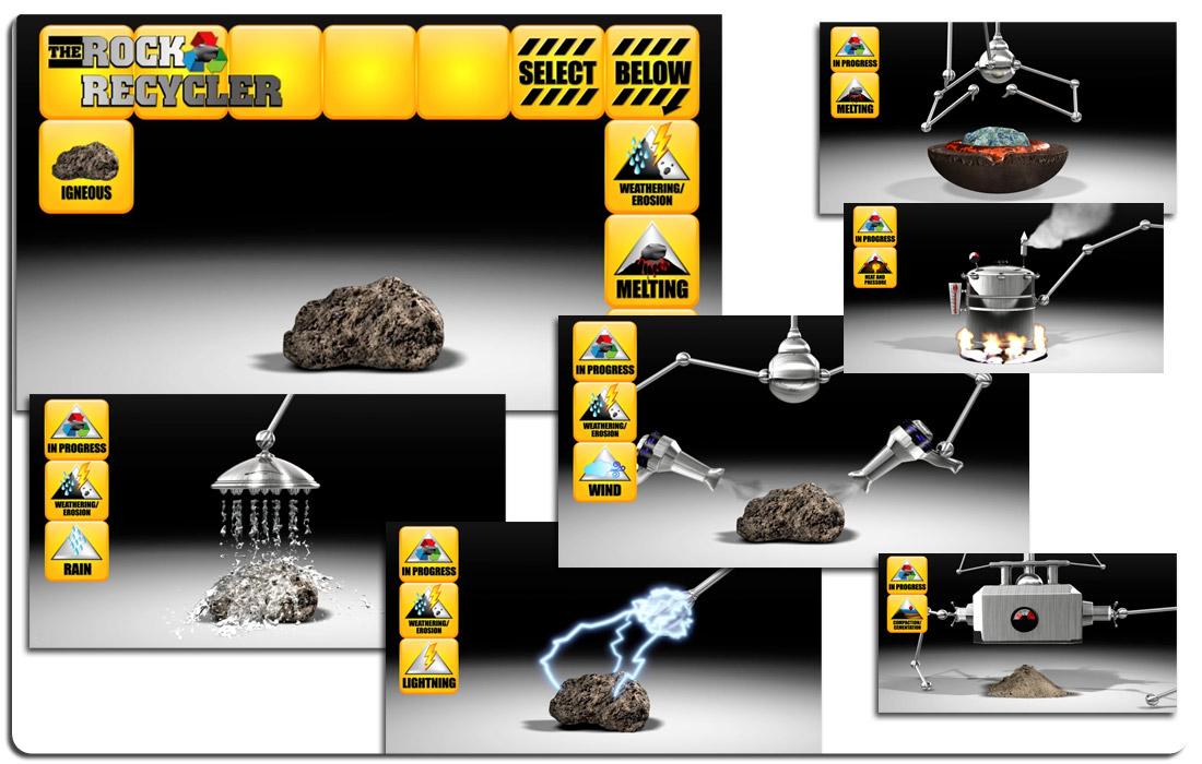 The Rock Recycler Interactive Exhibit
