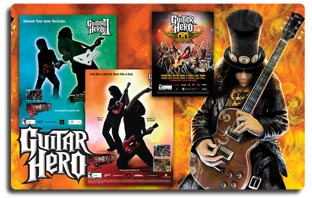 Guitar Hero Advertising Projects